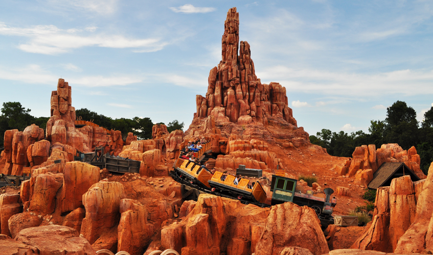 Big Thunder Mountain Railroad, photo by Sarah Reck, August 2014