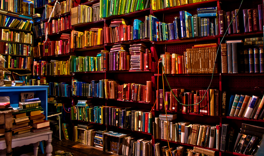 Bookshelves Elsewhere, Barron Webster / flickr